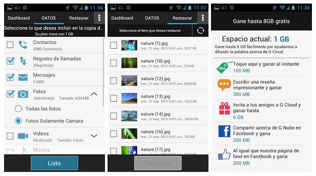 Copias de Seguridad en Android con G Cloud Backup